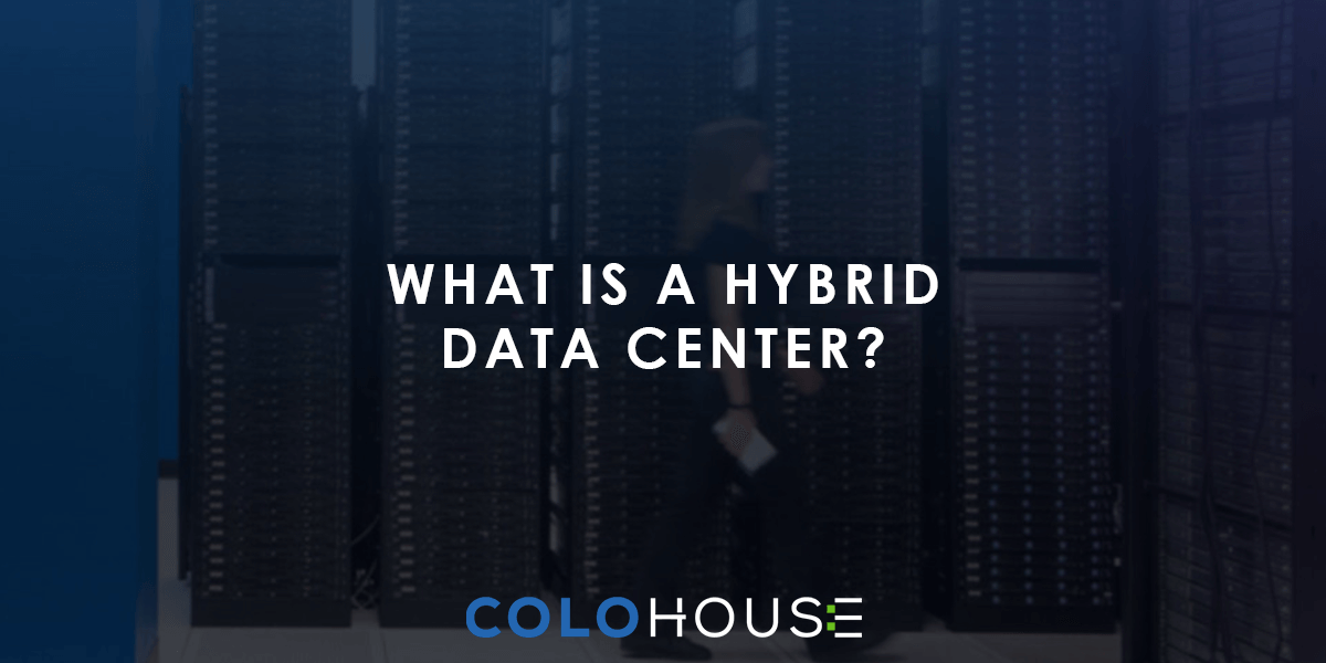 Blog header with the caption: What is hybrid data center?